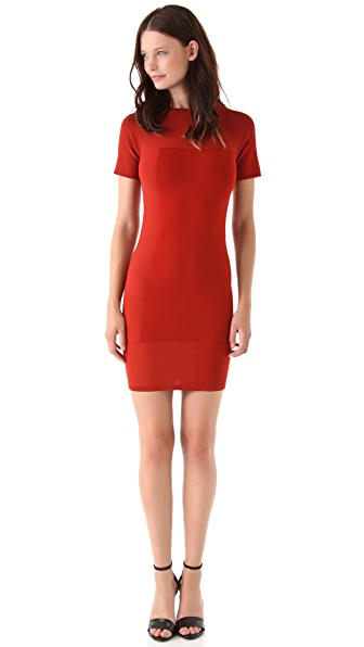 Alexander Wang Embossed Stretch Dress