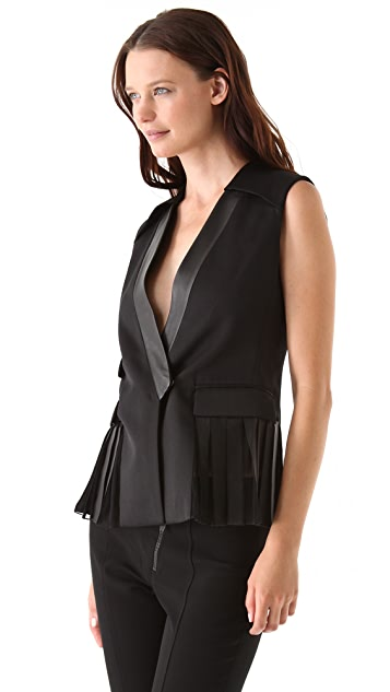 Alexander Wang Pleated Side Panel Vest