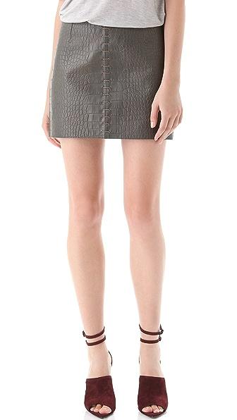 Alexander Wang Croc Leather Miniskirt