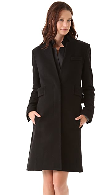 Alexander Wang Coat with Leather Back Panel