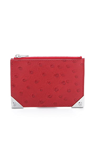 Alexander Wang Prisma Embossed Ostrich Coin Purse