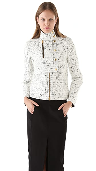 Alexander Wang Lacquered Tweed Jacket