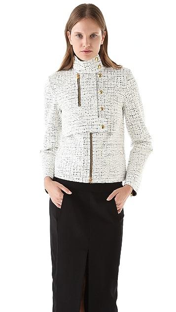 Alexander Wang Lacquered Tweed Jacket
