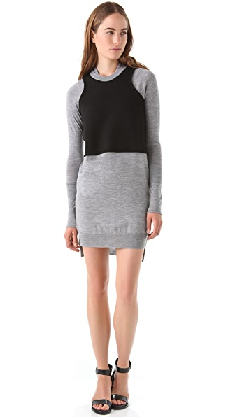 Alexander Wang Merino Felted Wool Dress