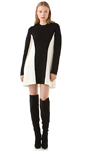 Alexander Wang Colorblock Sweater Dress