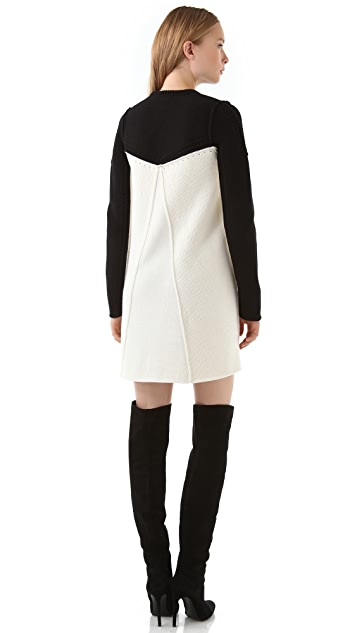 Alexander Wang Colorblock Sweater Dress
