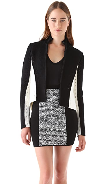 Alexander Wang Structured Open Back Cardigan