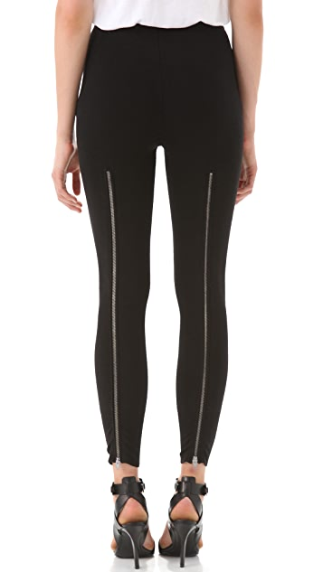 Alexander Wang Merino Zip Back Leggings