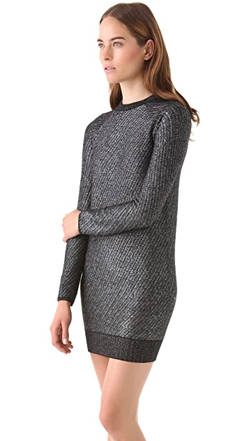 Alexander Wang Long Sleeve Crew Dress