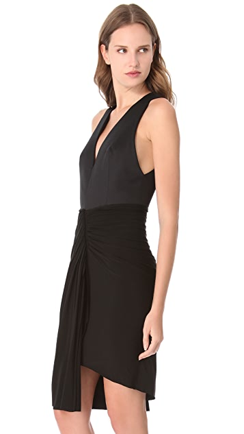 Alexander Wang Gathered Dress with Satin Bodice