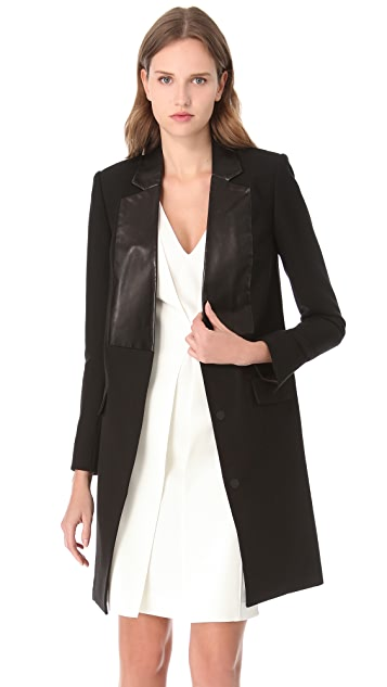 Alexander Wang Leather Bib Jacket