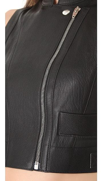 Alexander Wang Biker Apron Leather Vest