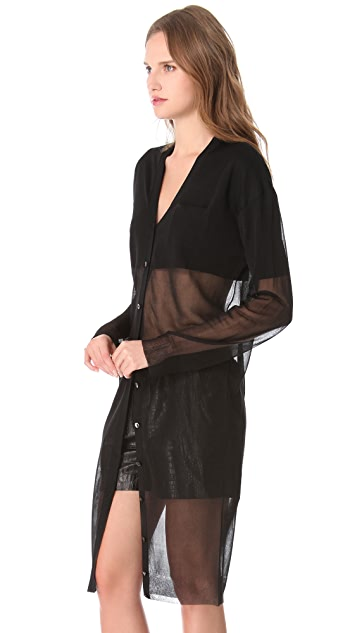 Alexander Wang Sheer Double Layer Cardigan
