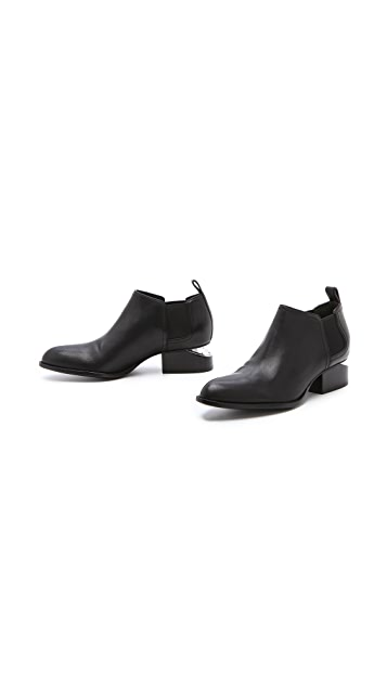 Alexander Wang Kori Ankle Booties with Nickel Hardware