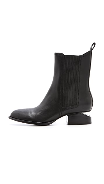 Alexander Wang Anouck Chelsea Booties with Nickel Hardware