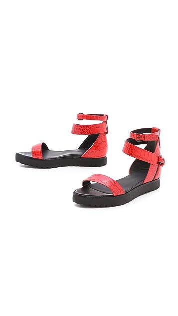 Alexander Wang Jade Flat Croc Sandals