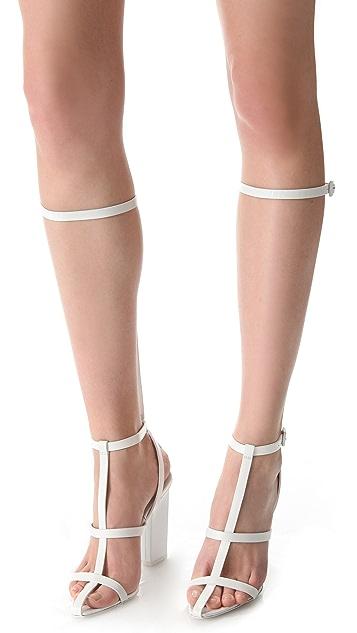 Alexander Wang Aline High T-Strap Sandals