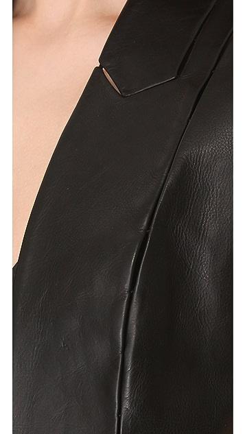 Alexander Wang Leather Cap Sleeve Vest
