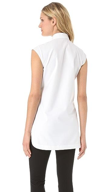 Alexander Wang Sleeveless Fishline Oxford Shirt