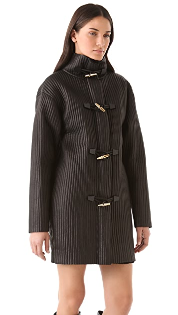 Alexander Wang Leather Rib Duffle Coat