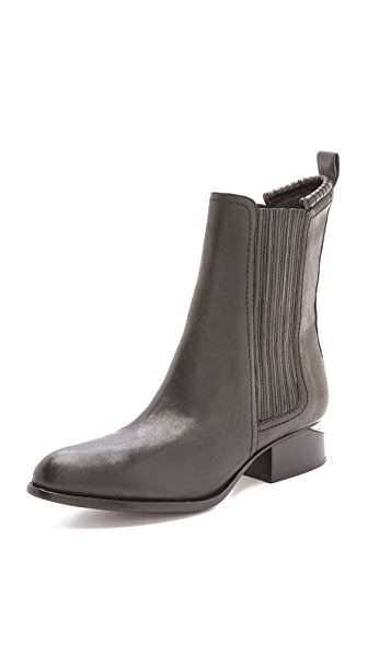 Alexander Wang Anouck Chelsea Booties with Matte Black Hardware