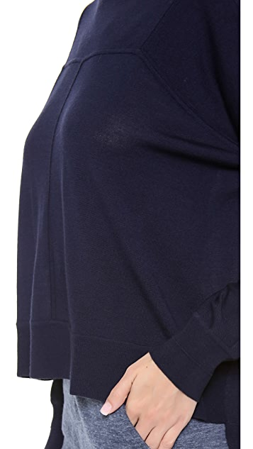 Alexander Wang Merino Asymmetrical Sweater