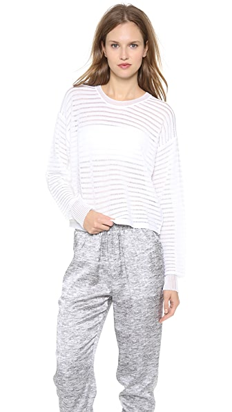 Alexander Wang Sheer Lace Rib Sweatshirt