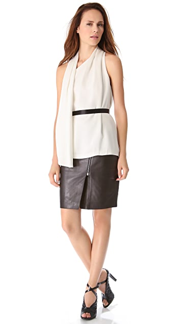Alexander Wang Wrap Scarf Top with Belt