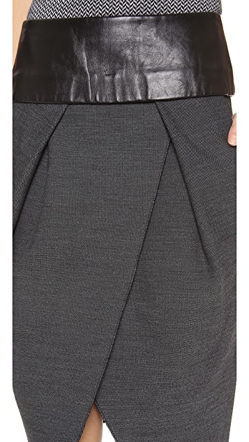 Alexander Wang Pleated Low Waist Skirt