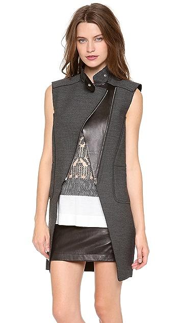 Alexander Wang Zippered Combo Cutaway Vest