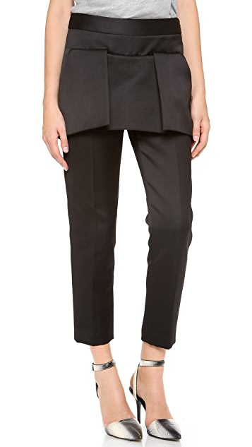 Alexander Wang Tailored Peplum Zip Pants