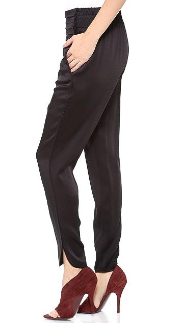 Alexander Wang Tuxedo Pleat Track Pants