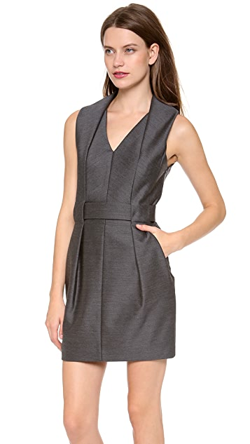 Alexander Wang Folded V Neck Belted Dress