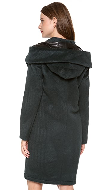 Alexander Wang Hooded Car Coat