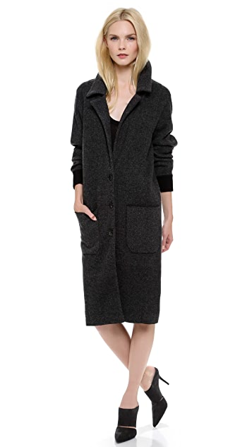 Alexander Wang Double Knit Button Coat