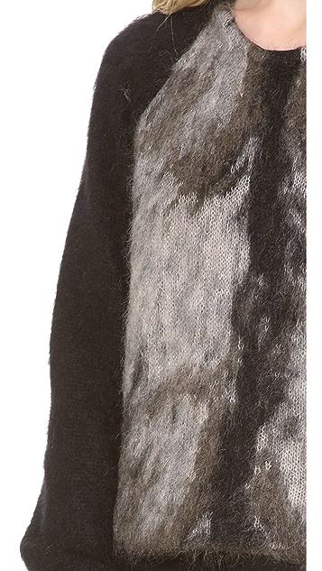 Alexander Wang Fur Spine Pullover