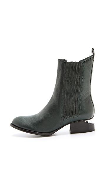 Alexander Wang Anouck Chelsea Boots with Rhodium Plate
