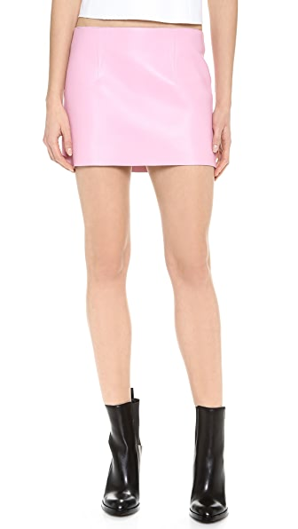 Alexander Wang Leather Micro Miniskirt