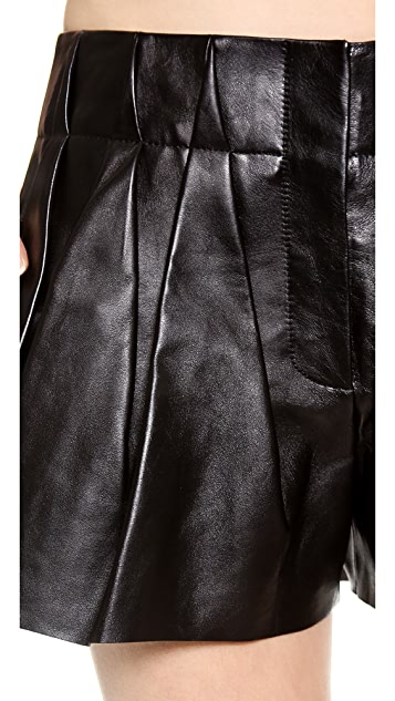 Alexander Wang Leather Bloomer Shorts