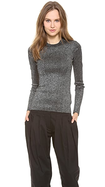 Alexander Wang Metallic Crew Neck Sweater
