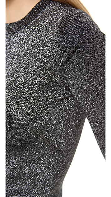 Alexander Wang Metallic Crew Neck Sweater