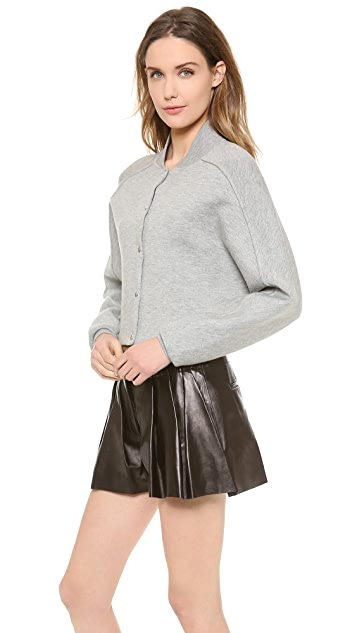 Alexander Wang Cropped Double Face Bomber