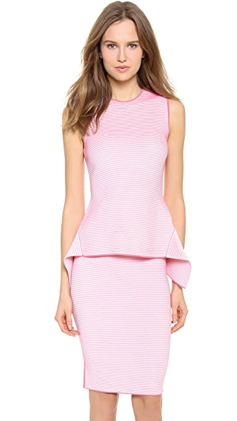 Alexander Wang Optical Stripe Peplum Top