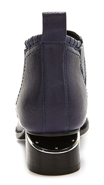 Alexander Wang Kori Ankle Booties with Rhodium Plate