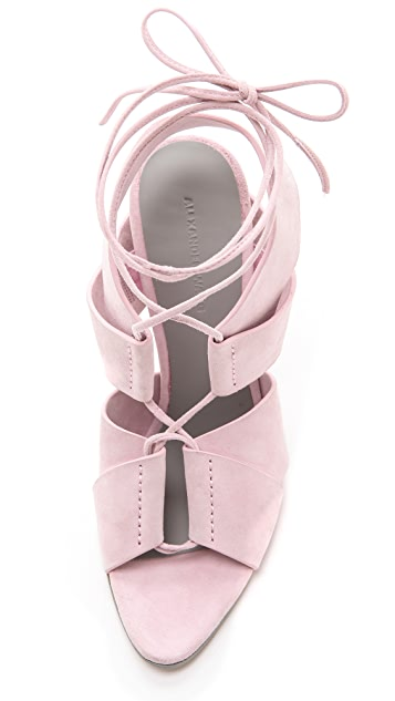 Alexander Wang Malgosia Lace Up Sandals