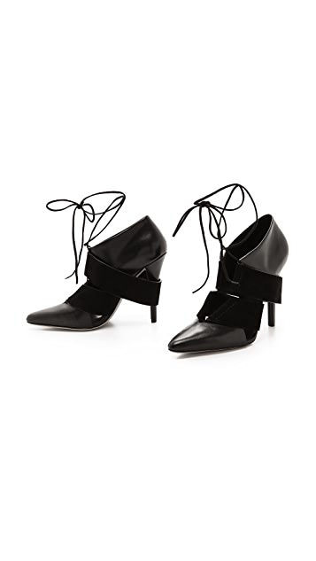 Alexander Wang Mila Lace Up Booties