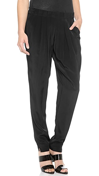 Alexander Wang Irregular Pleat Front Pants