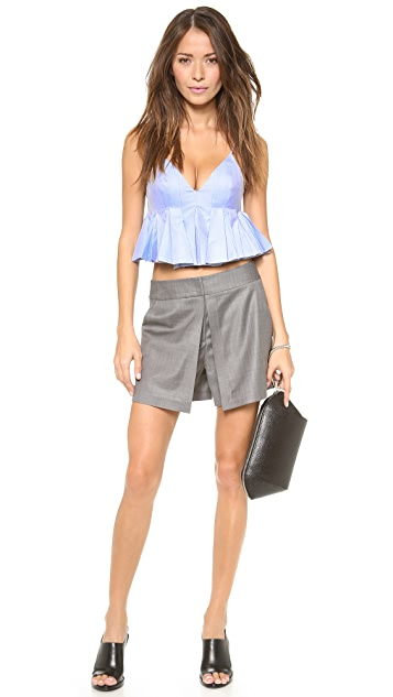 Alexander Wang Irregular Pleated Cami Top