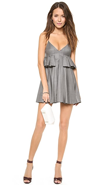 Alexander Wang Irregular Pleated Cami Dress