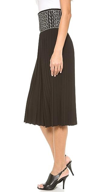 Alexander Wang High Waist Logo Eyelet Skirt